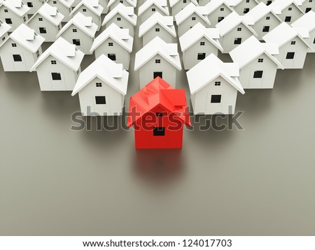 Houses concept one is red