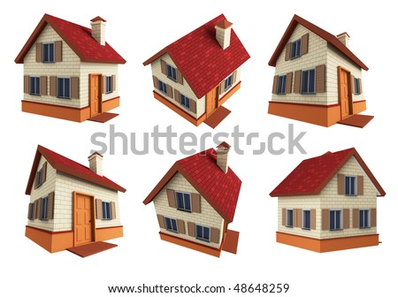 Houses. 3d