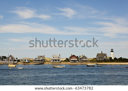 houses in cape cod, hyannis port, massachusetts, usa.