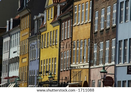 Houses in Copenhagen, Denmark
