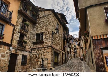Houses in Frias, Castilla y Leon, Spain