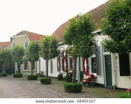 Houses in Middelharnis in the Netherlands