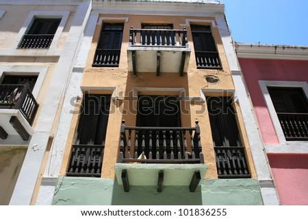 Houses in Old San Juan, Puerto Rico