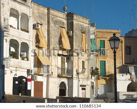 houses in Old Town of Bari