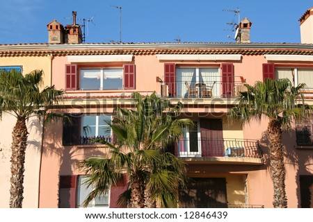 houses in Sanary, on the cote d'azur