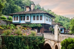 Houses in the ethnographic museum Etar in Gabrovo, Bulgaria.