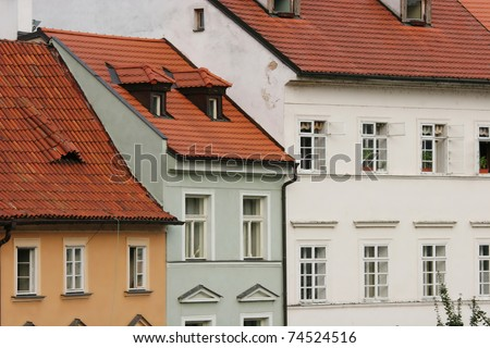 Houses in the old town (Prague, Czech Republic)