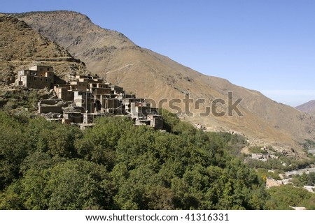 Houses in the village of Imlil in Toubkal National Park, Morocco