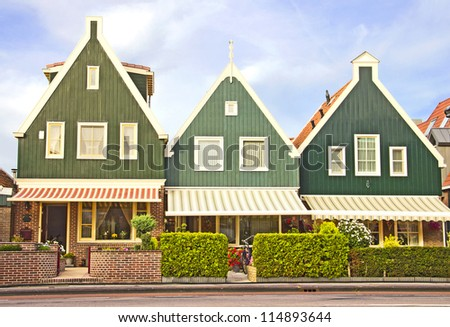 Houses in Volendam, The Netherlands