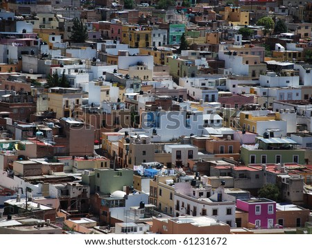 Houses in Zacatecas, Mexico