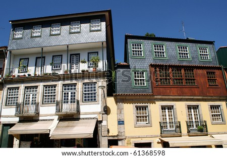 Houses of Amarante, north of Portugal