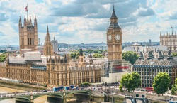 Houses of Parliament and Big Ben,  Westminster Palace, high dynamic range,