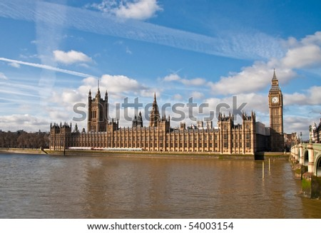 Houses of parliament in London - stock photo