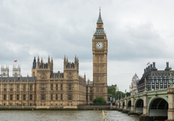 Houses of Parliament, Westminster Palace, London: the meeting place of the House of Commons and the House of Lords.