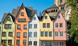 Houses of the Fish Market in Cologne, Germany
