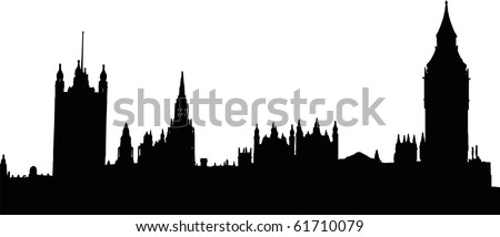 Houses of the Parliament in London - isolated illustration
