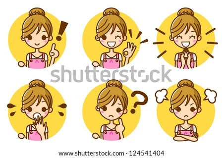 Housewife woman expression