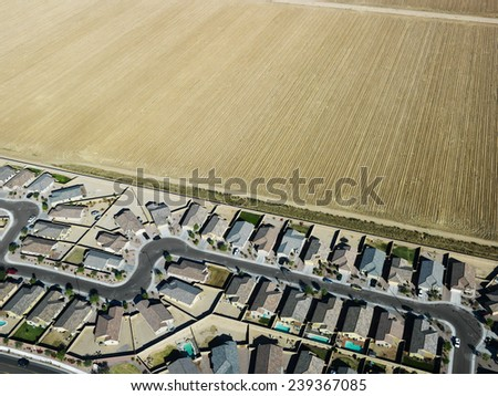 Housing Development and Agricultural Fields