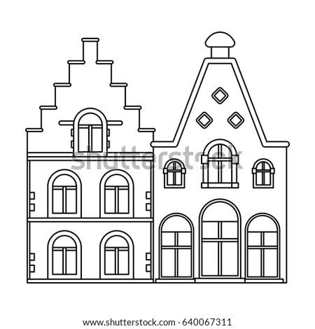 Housing In BelgiumThe Dark Belgian Wolf Belgium Single Icon Outline Style Bitmap