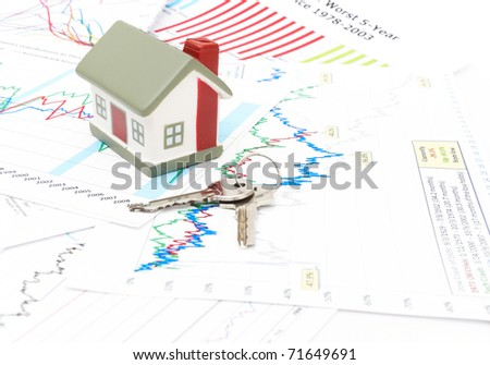 housing market graph. stock photo : Housing market concept image with graph background