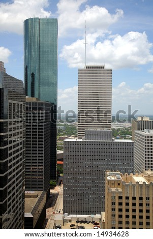 Houston Skyline - stock photo