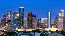 Houston Skyline just after sunset