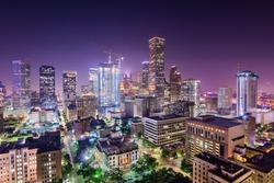 Houston, Texas, USA downtown city skyline.