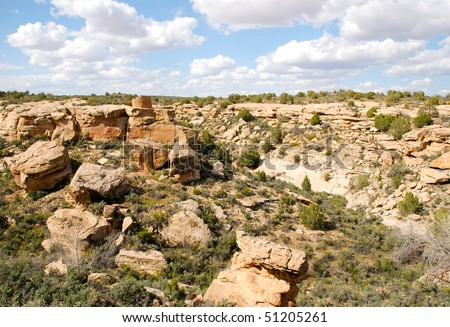 Hovenweep National Monument native american indian ruins and canyon #51205261