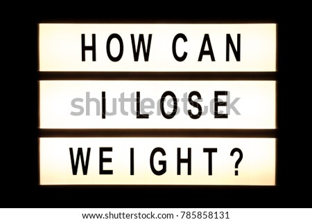 How can I lose weight hanging light box sign board. #785858131