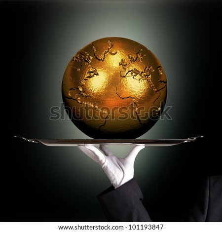 How much for that world? - stock photo