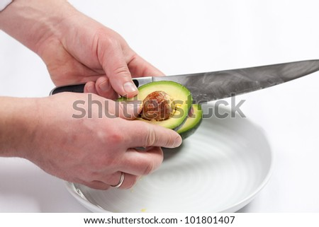 How to prepare avocados for salad making. Step by step
