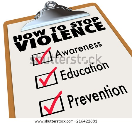 how to stop violence words on a ...