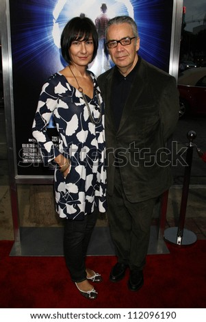 """Howard Shore and his wife at the Los Angeles Premiere of """"The Last Mimzy"""". Mann Village Theatre, Westwood, CA. 03-30-07 - stock photo"""