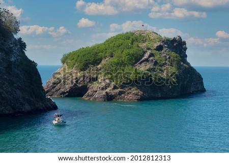 Hoynat Island is in Turkey, in the province of Ordu. Stok fotoğraf ©