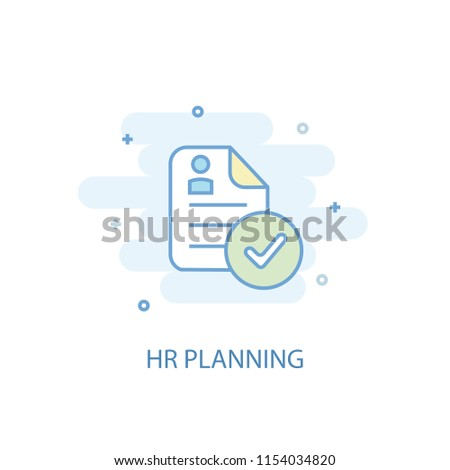Hr planning concept trendy icon. Simple line, colored illustration. Hr planning concept symbol flat design from Human resources set. Can be used for UI/UX