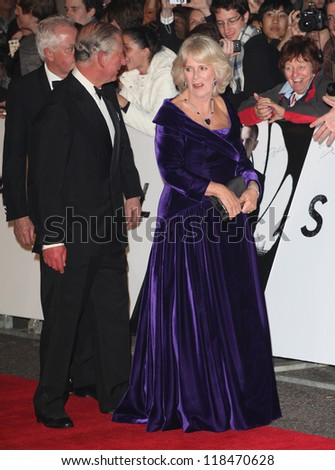 HRH Camilla, Duchess of Cornwall and Prince Charles arriving for the Royal World Premiere of 'Skyfall' at Royal Albert Hall, London. 23/10/2012 Picture by: Alexandra Glen