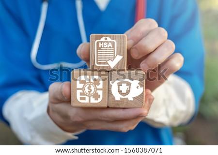 HSA Health Savings Account Concept. Save Medical Individual Capital Bank Pay. Foto stock ©