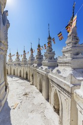 Hsinbyume Myatheindan Pagoda (White Temple) in Mingun, near Mandalay in Myanmar (Burma)