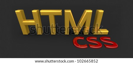 HTML CSS 3d block letters, a classy label for professional blogs and designs on the subject.