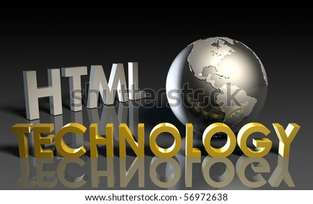 HTML Technology Internet Abstract as a Concept