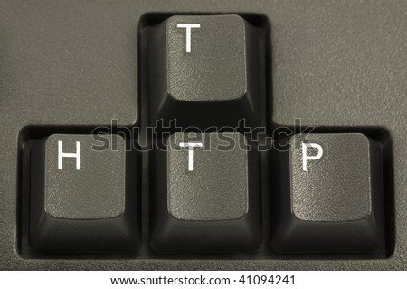 HTTP internet concept on a computer keyboard