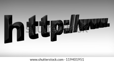 HTTP web  3d concept isolated white
