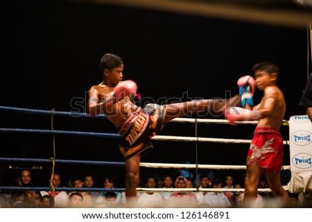 HUA HIN THAILAND- JANUARY 25 : Unidentified players in Muaythai \