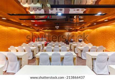 HUA HIN, THAILAND - MAY 23: Conference room of Marrakech Hotel on May 23, 14 in Hua Hin. The design of the hotel was Inspired by rich and colorful culture of Morocco\'s Marrakech or \