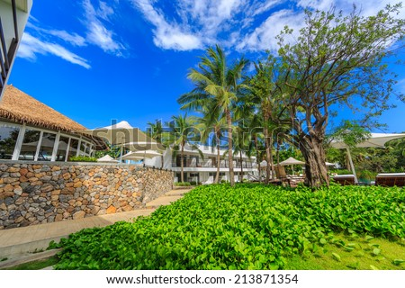 HUA HIN, THAILAND - MAY 23: Putahracsa Hua Hin Hotel on May 23, 14. It is a new luxury hotel in Hua Hin, the design of the space, 59 units ranging from standard rooms to pool villas.