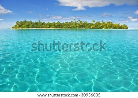 Huahine island lagoon, French Polynesia