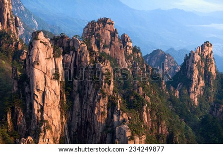 Huangshan Mountain Yellow Mountain China Of all the notable mountains in China it is probably the most famous to be found in the south of Anhui province