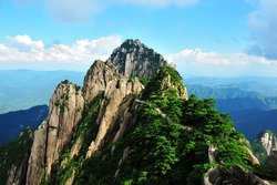 Huangshan Mountains in China