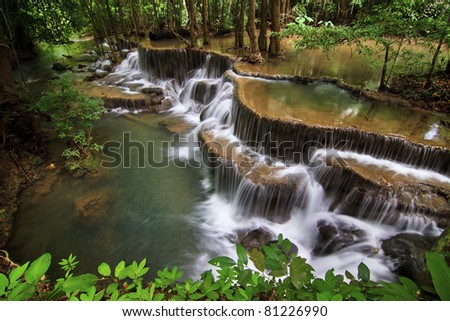 Huay mae ka min Waterfall in Kanchanaburi, Thailand