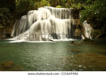 Huay Mae Khamin waterfall, Kanchanaburi Province, Thailand